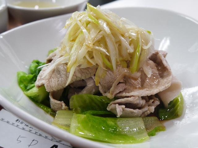B:麗豚の湯引き葱生姜風味