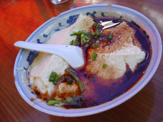 四川省の峨眉山で食べた豆花(2007年撮影)