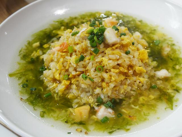 [主菜A]海鮮湯炒飯|海鮮青のりスープ炒飯