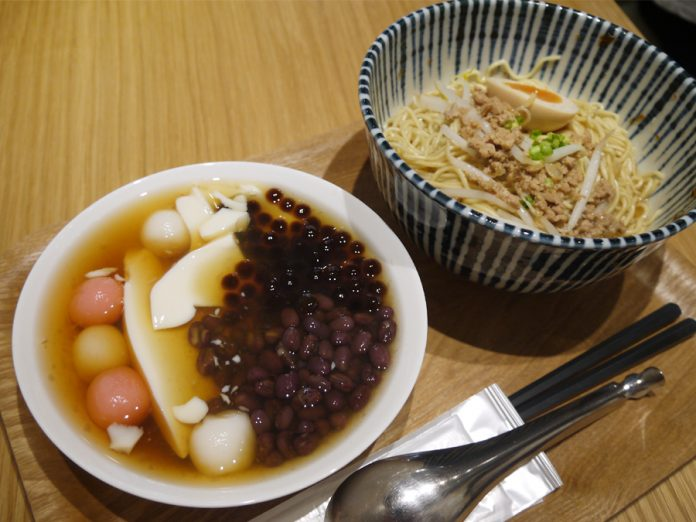 「I love 豆花」のランチ肉燥麺セット1,050円
