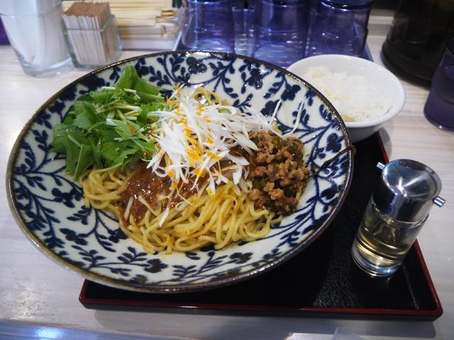 「麺屋 大申 神保町店」の汁なし担々麺(おや)850円(大盛、ゴハンサービス)