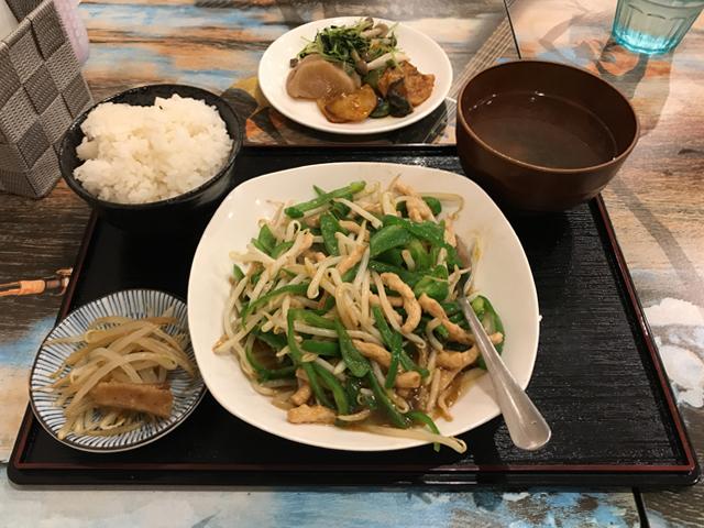 チンジャオロース定食750円