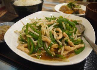 「台湾食堂」のチンジャオロース定食750円