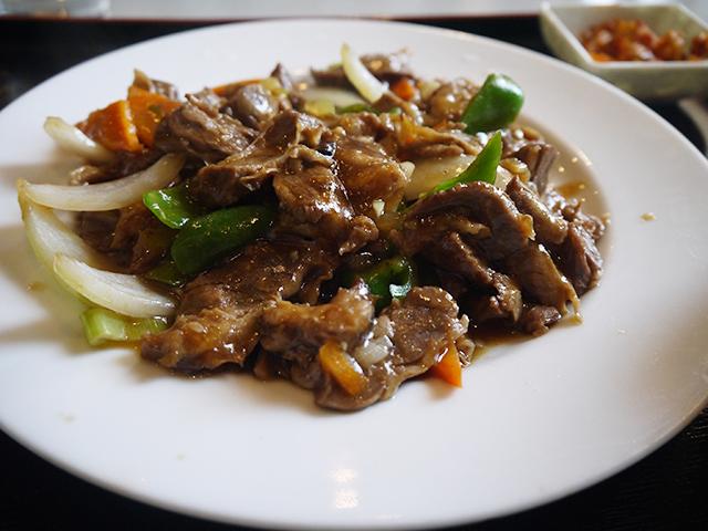 ハラミとピーマンの炒め(青椒护心肉)700円