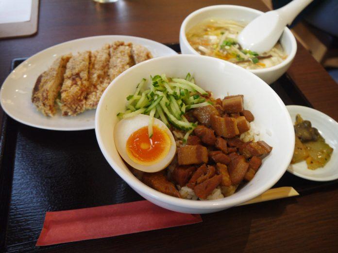 神田「台湾MACHI」の鶏排飯定食950円