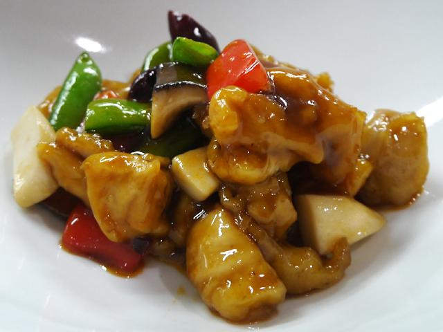 鶏肉と春野菜の甘酢唐辛子炒め
