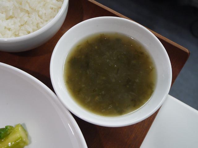 たまねぎとあおのりのスープ