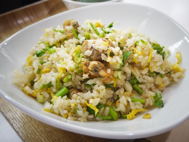 A:アサリとセリの炒飯