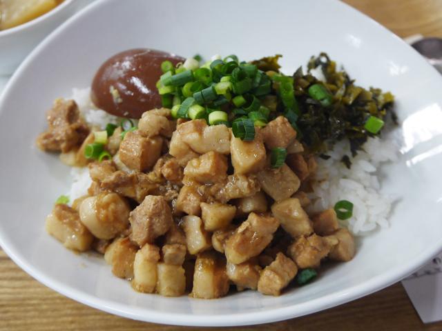 A:台湾煮込み豚肉かけご飯