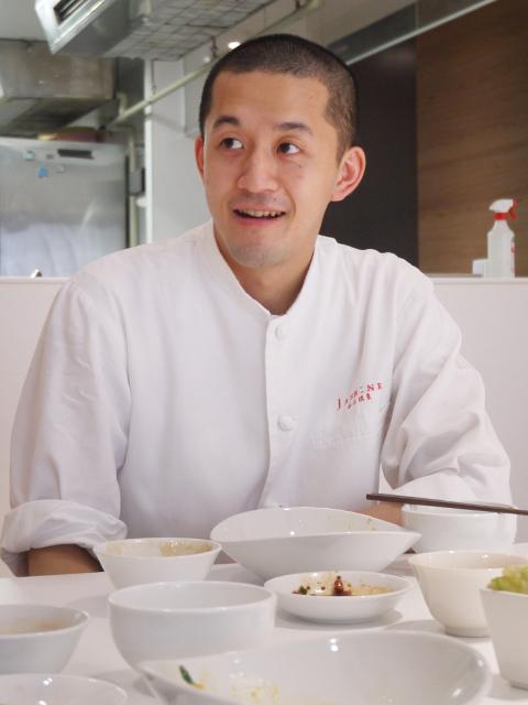 銀座「JASMINE 和心漢菜」寅尾亮太シェフ