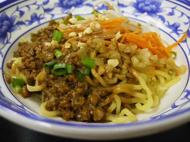 南北麺館の熱乾麺