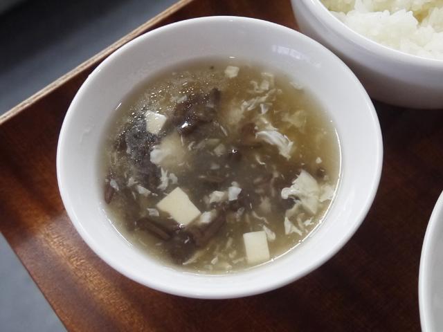 ジュンサイと豆腐のとろみスープ