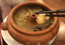 四谷三丁目「日興苑 食彩雲南」の特製汽鍋スープ350円