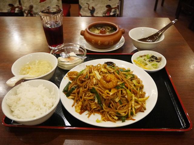 炒米線+松茸汽鍋スープ